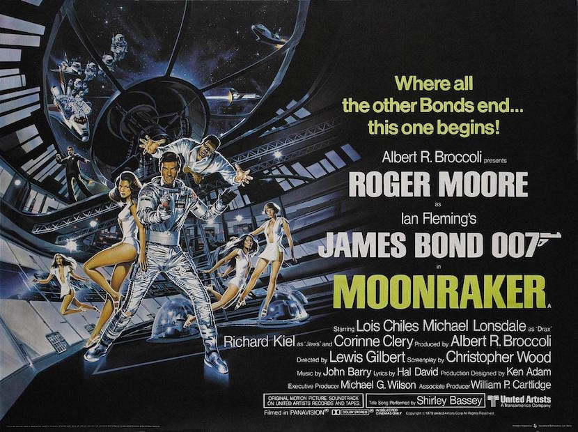 'Moonraker' theatrical poster. Eon Productions, Designed by Dan Gouzee