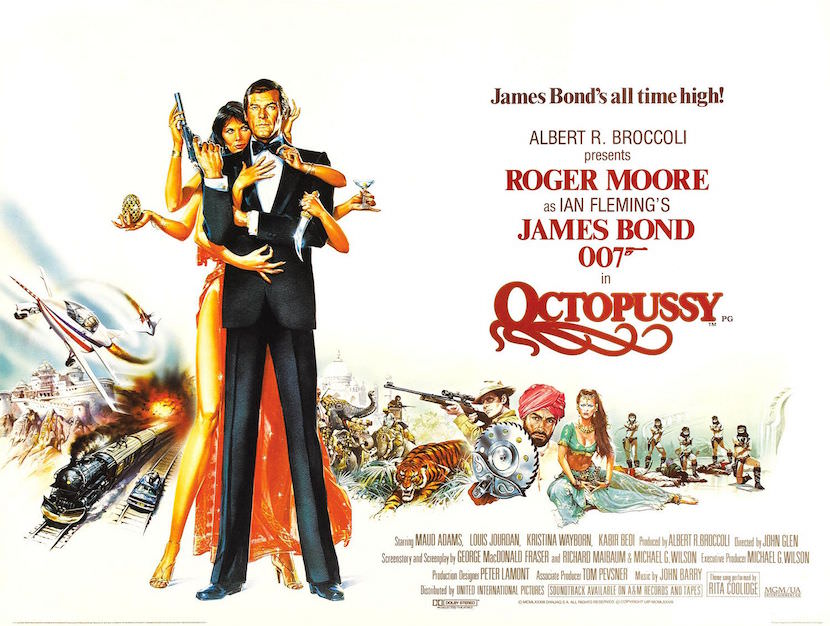 Theatrical poster for 'Octopussy'. Eon Productions, Illustrated by Renato Casaro