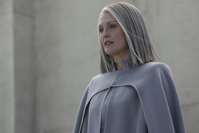 Julianne Moore stars as 'President Coin' in THE HUNGER GAMES: MOCKINGJAY – PART 2. Photo Credit: Murray Close