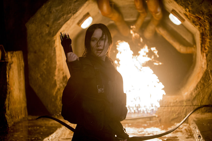 Jennifer Lawrence stars as 'Katniss Everdeen' in THE HUNGER GAMES: MOCKINGJAY - PART 2. Photo Credit: Murray Close