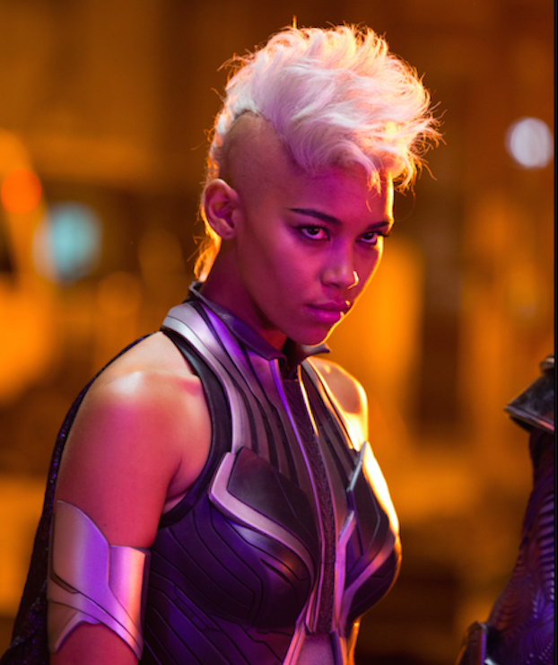 Alexandra Shipp is the young Storm. Courtesy 20th Century Fox