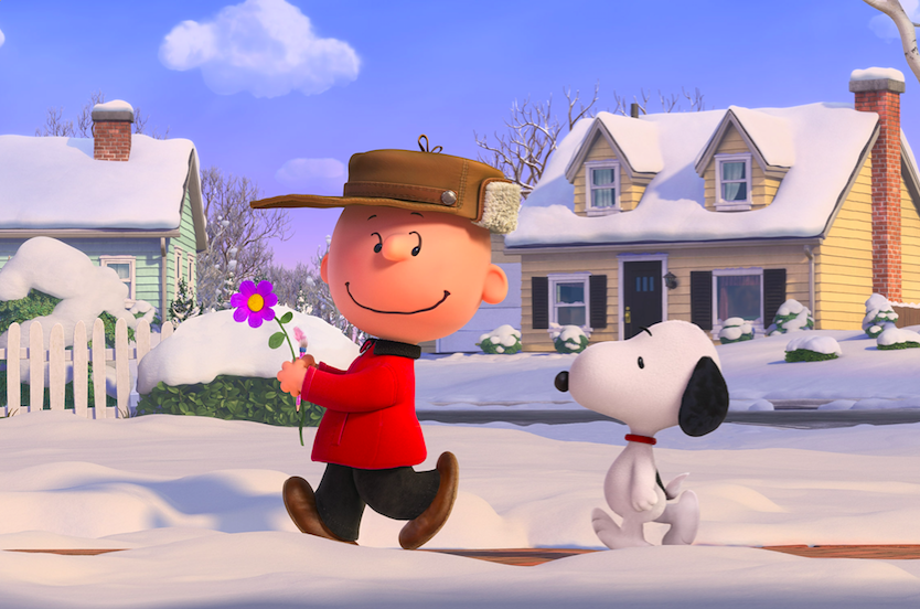 Charlie Brown and his best pal Snoopy. Courtesy 20th Century Fox