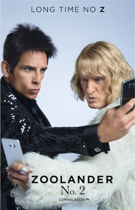 Zoolander 2 poster. Courtesy Paramount Pictures.