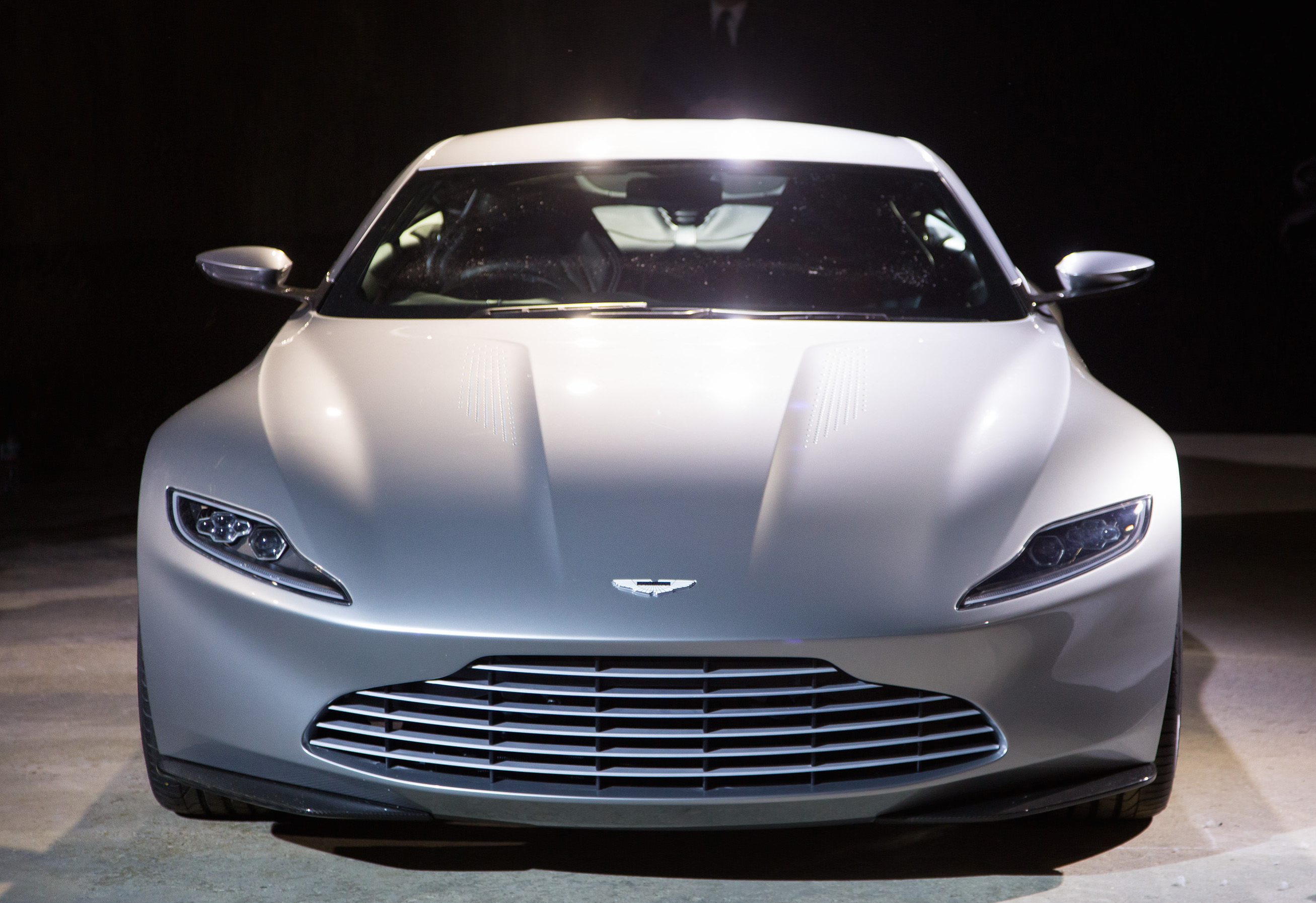 A brand new Aston Martin. Courtesy Sony Pictures