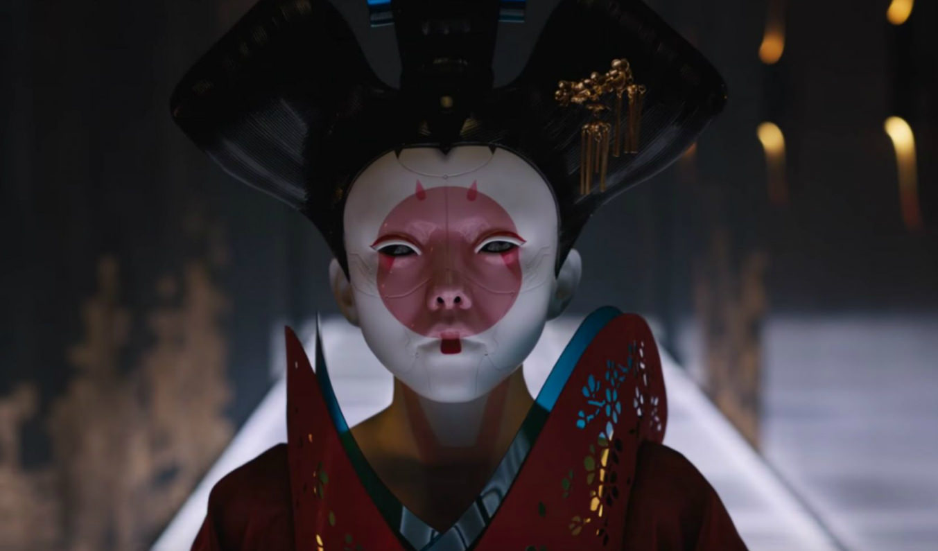 See Behind The Robotic Geisha Mask In Amazing Ghost In The Shell Video The Credits
