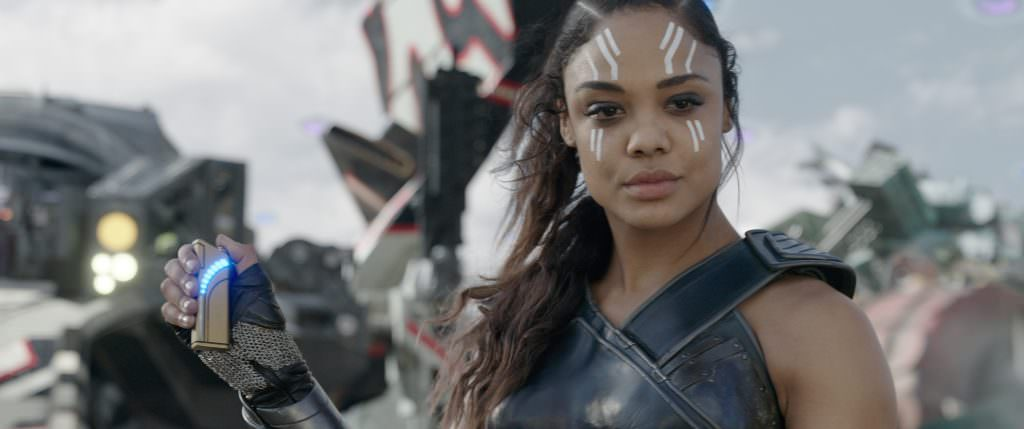 Tessa Thompson in 'Thor: Ragnarok.' Courtesy Marvel Studios.