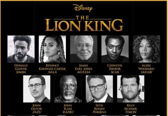 The Lion King cast Courtesy: Walt Disney Studios