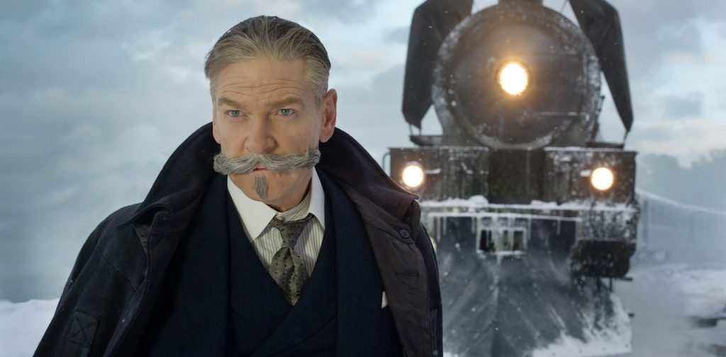 Kenneth Branagh in Murder on the Orient Express. Courtesy 20th Century Fox/Walt Disney Studios