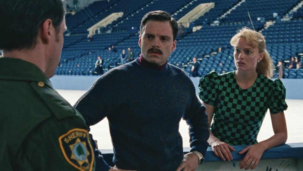 10- Jeff Gillooly (Sebastian Stan), Tonya Harding (Margot Robbie) and Diane Rawlinson (Julianne Nicholson) in I, TONYA, courtesy of NEON