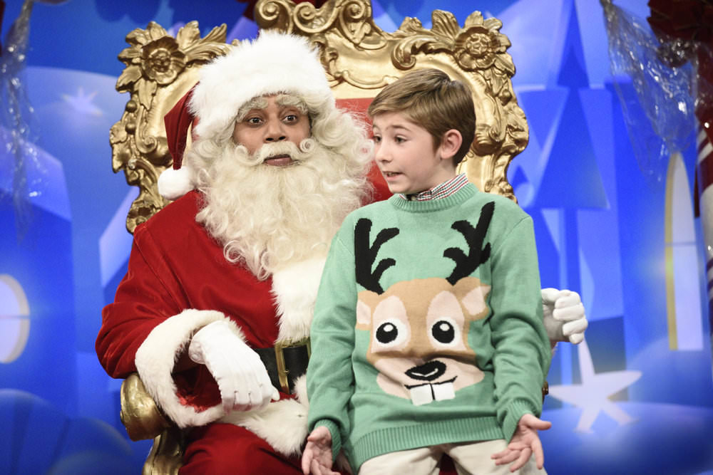 SATURDAY NIGHT LIVE -- Episode 1733 -- Pictured: Kenan Thompson as Santa during