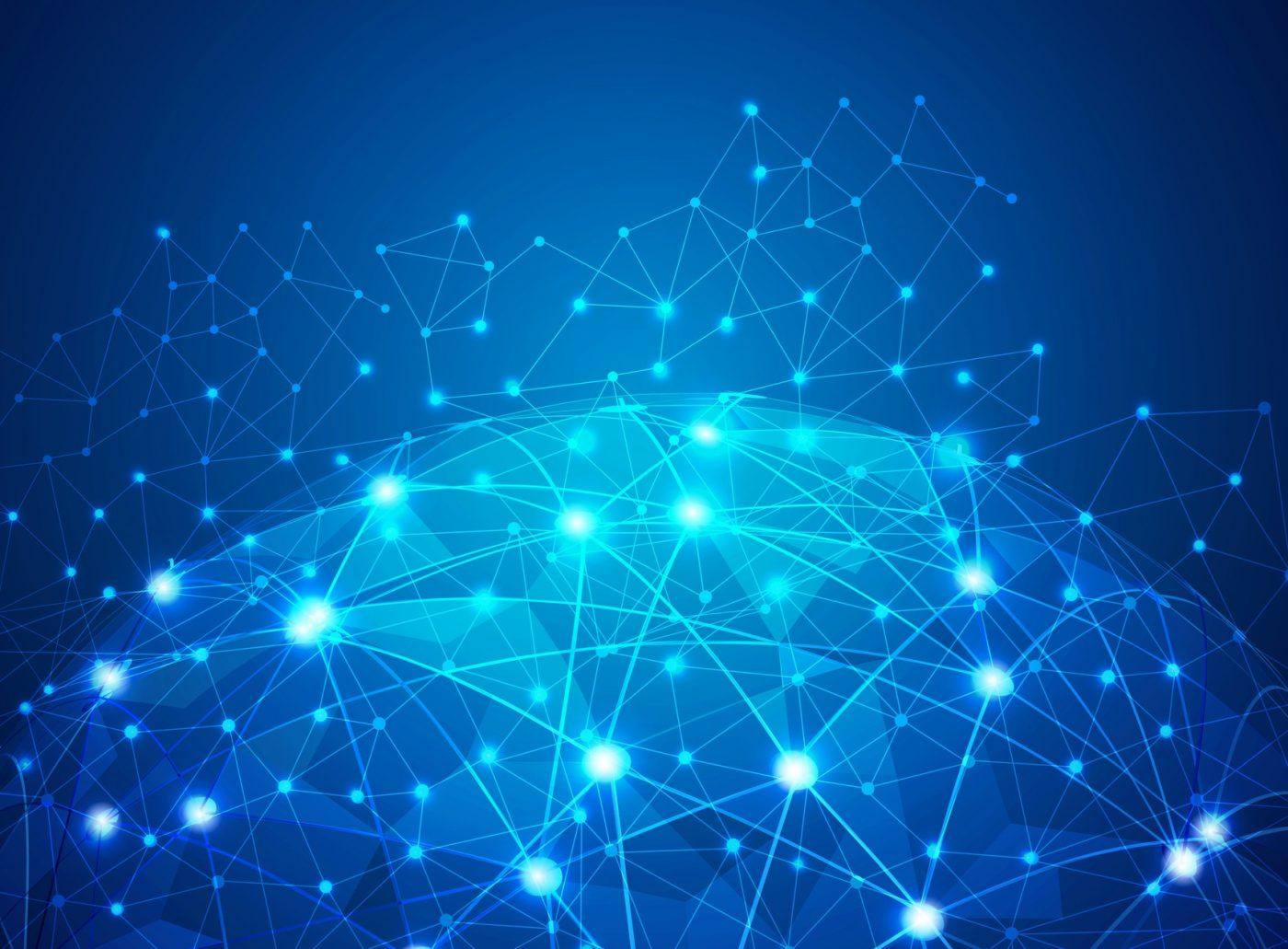 Spherical global digital mesh network background
