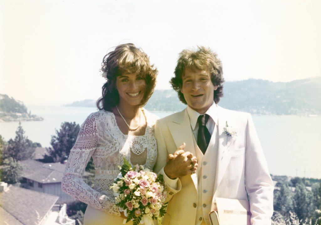 Valerie Valardi, Robin Williams on their wedding day, 1976. photo: Borsari/HBO