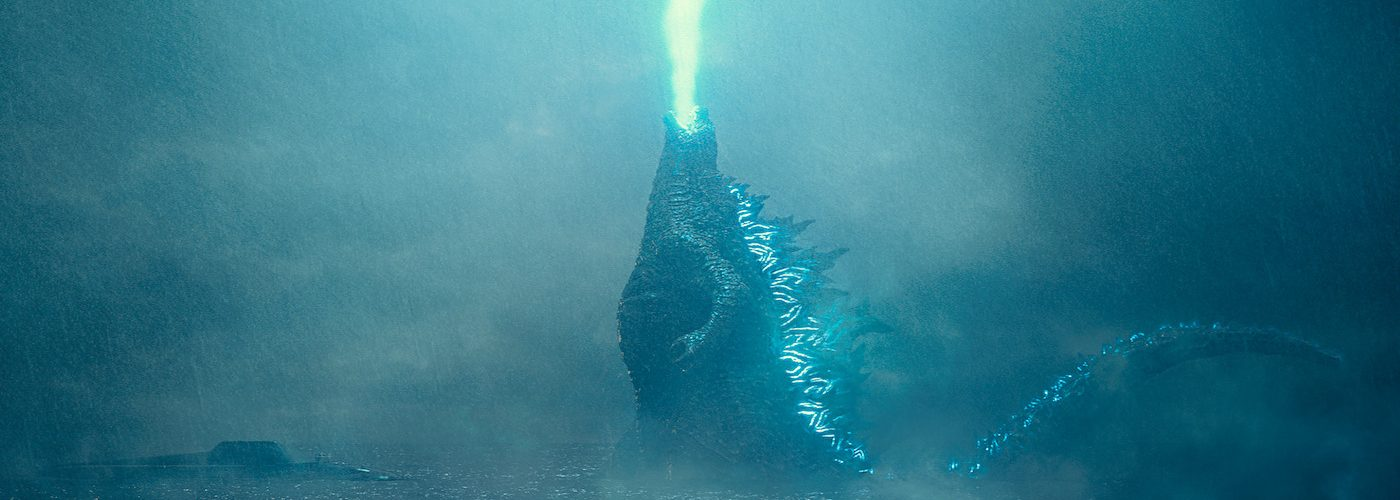 "Caption: Godzilla rises from the depths and unleashes his atomic breath to claim his crown as King of the Monsters in Warner Bros. Pictures' and Legendary Pictures' action adventure ""GODZILLA: KING OF THE MONSTERS,"" a Warner Bros. Pictures release. Photo Credit: Courtesy of Warner Bros. Pictures"