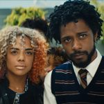 (l to r.) Tessa Thompson as Detroit and Lakeith Stanfield as Cassius Green star in director Boots Riley's SORRY TO BOTHER YOU, an Annapurna Pictures release. Photo Credit: Annapurna Pictures