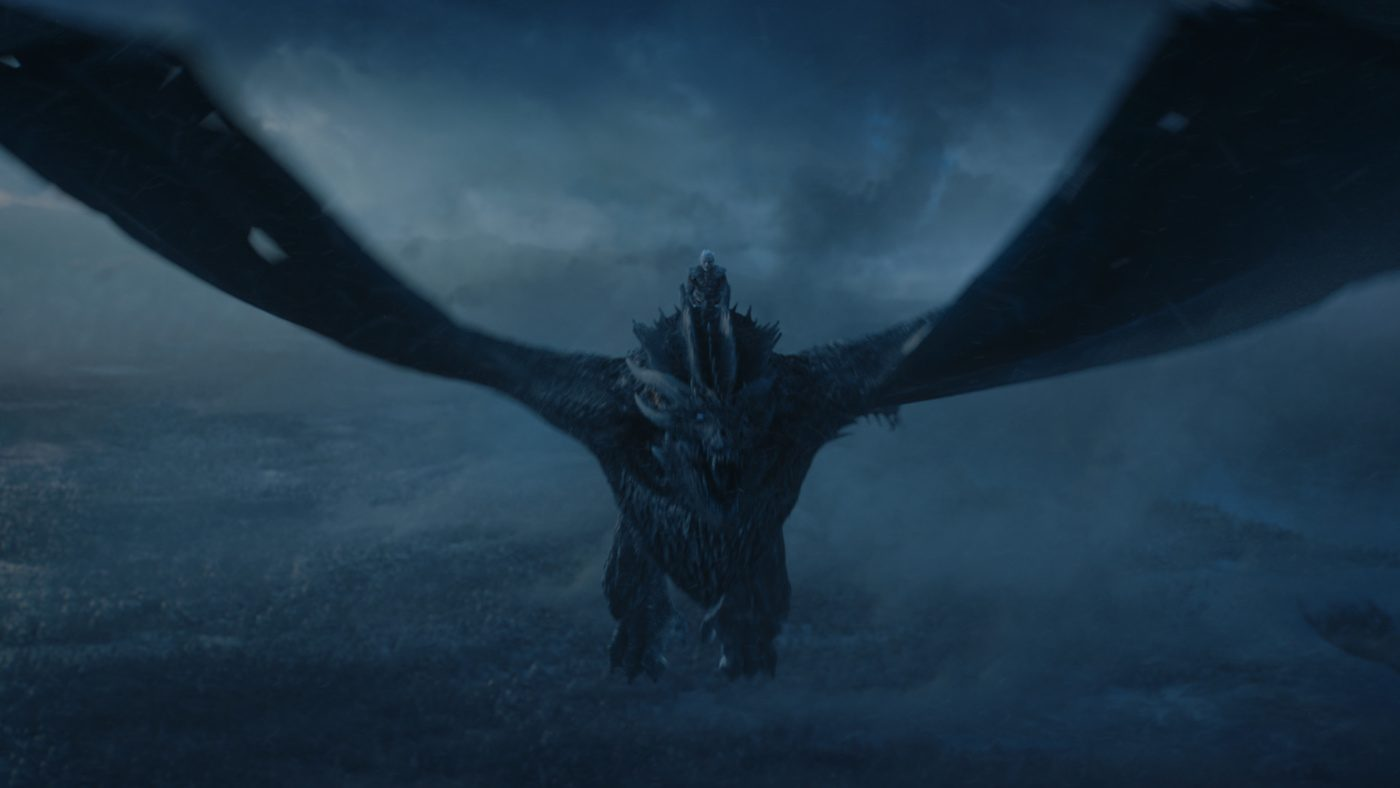 Viserion in Game of Thrones, season 7. Courtesy HBO.