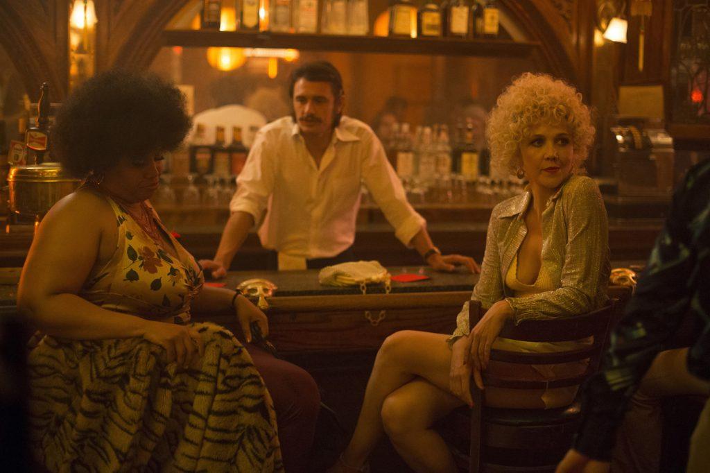 L-r: Pernell Walker, James Franco, Maggie Gyllenhaal. photo: Paul Schiraldi/HBO