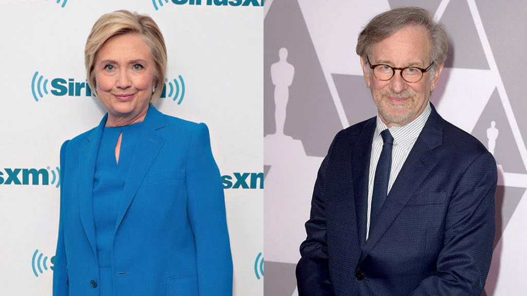 Hillary Clinton and Steven Spielberg