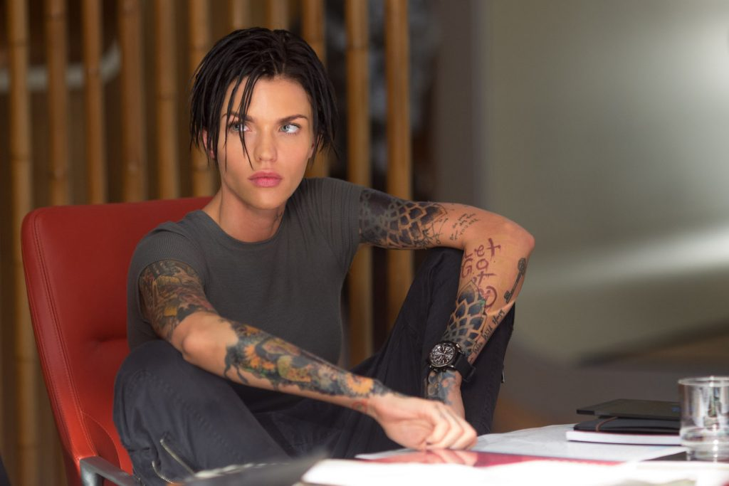 "Caption: RUBY ROSE as Jaxx in Warner Bros. Pictures' and Gravity Pictures' science fiction action thriller ""THE MEG,"" a Gravity Pictures release for China, and a Warner Bros. Pictures release throughout the rest of the world. Photo Credit: Kirsty Griffin"