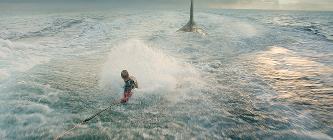"""Caption: A scene from Warner Bros. Pictures' and Gravity Pictures' science fiction action thriller """"THE MEG,"""" a Gravity Pictures release for China, and a Warner Bros. Pictures release throughout the rest of the world. Photo Credit: Courtesy of Warner Bros. Pictures"""