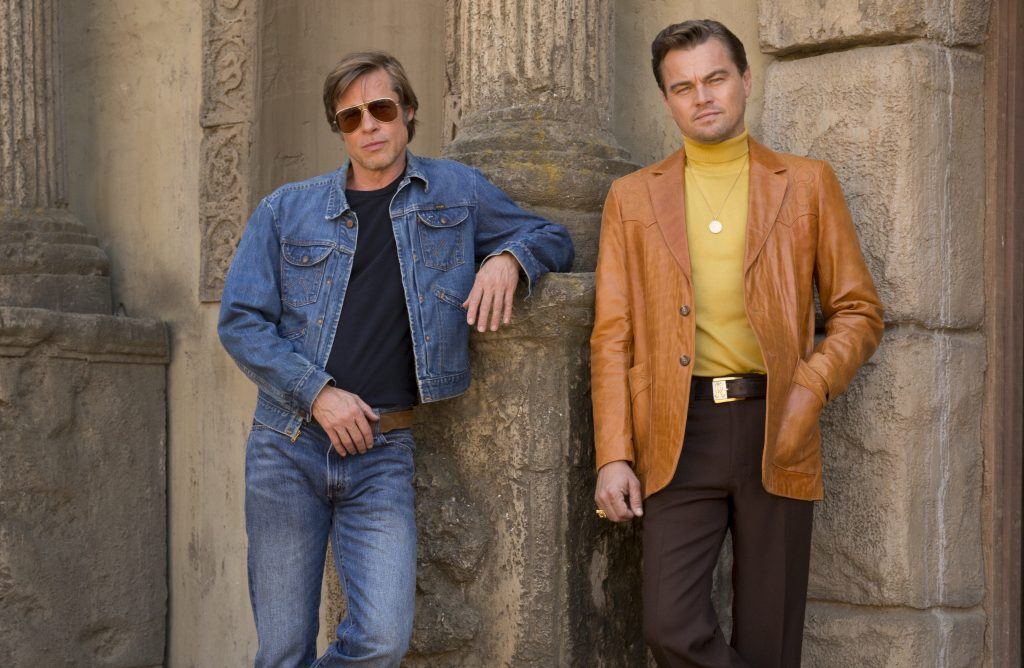 "Brad Pitt and Leonardo DiCaprio star in Columbia Pictures ""Once Upon a Time in Hollywood"" Photo by Andrew Cooper/Sony Pictures"
