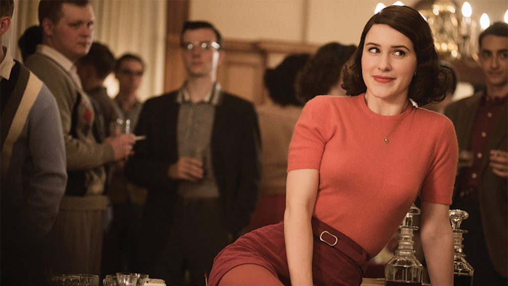 Featured image: Rachel Brosnahan in 'The Marvelous Mrs. Maisel.' Courtesy Amazon Studios.