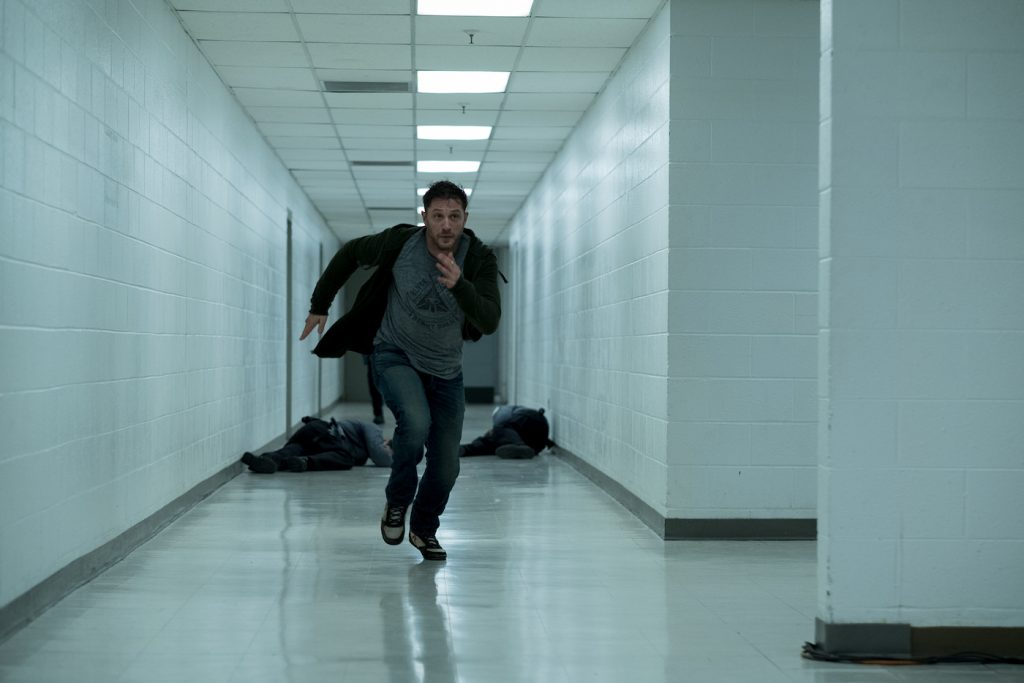 Eddie Brock (Tom Hardy) in Columbia Pictures' VEMON. Photo by Frank Masi.