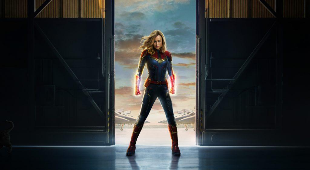 Bree Larson is Captain Marvel. Poster courtesy Marvel Studios.