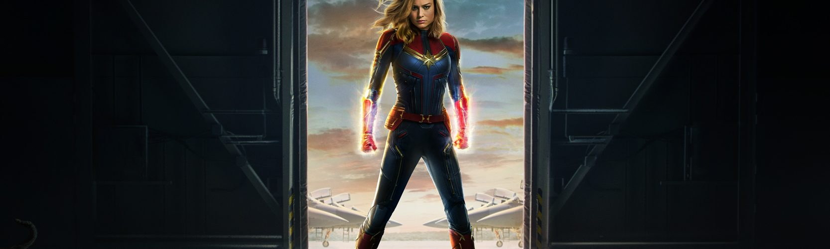 Bree Larson is Captain Marvel. Poster courtesy Marvel Studios.