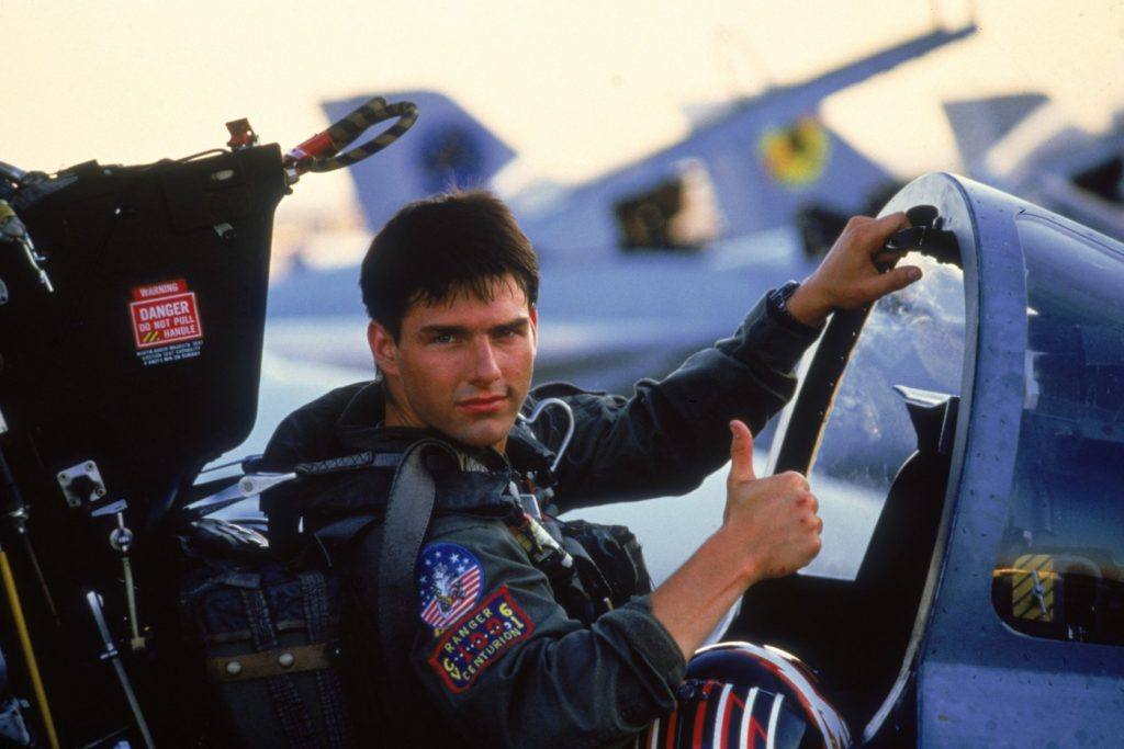 Tom Cruise in 'Top Gun.' Courtesy Paramount Pictures.