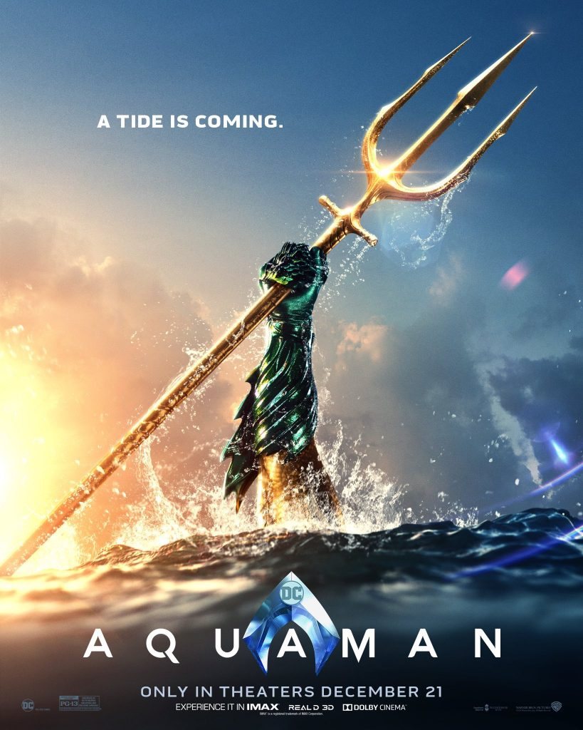 Aquaman Poster. Courtesy Warner Bros.
