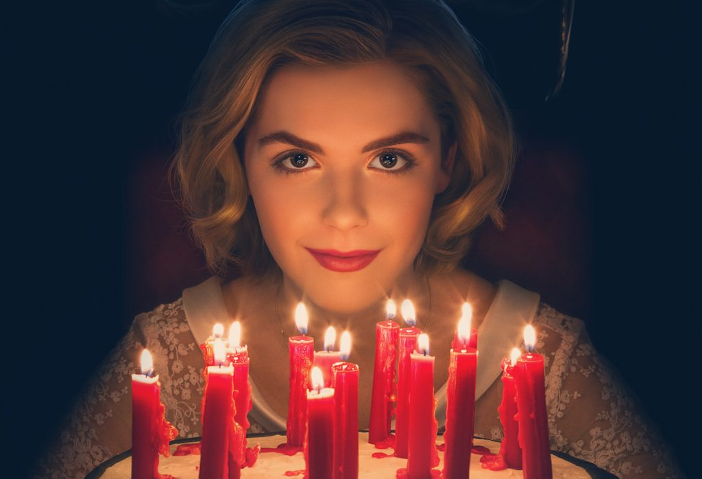 Kiernan Shipka in key art from 'The Chilling Adventures of Sabrina.' Courtesy Netflix.