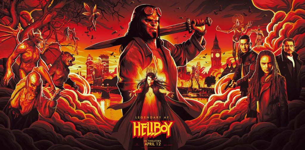Hellboy's Illustrated poster for New York Comic Con. Courtesy Lionsgate.