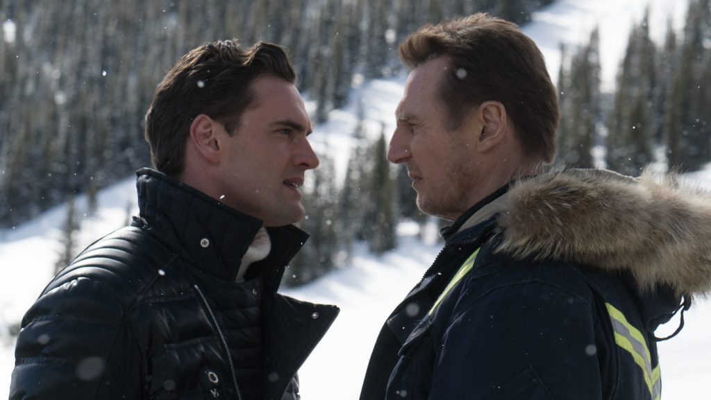Tom Bateman and Liam Neeson in 'Cold Pursuit.' Courtesy Summit Entertainment.