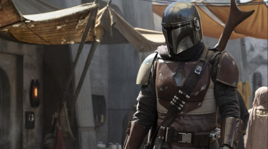 An image from the set of 'The Mandalorian.' Courtesy Walt Disney Studios.