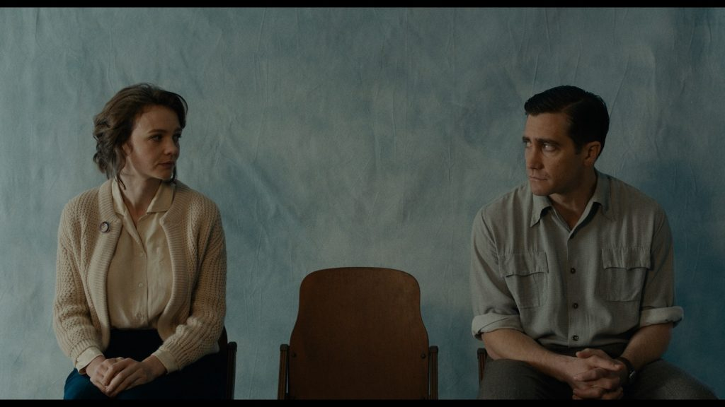 Carey Mulligan as Jeanette Brinson, and Jake Gyllenhaal as Jerry Brinson in Paul Dano's WILDLIFE. Courtesy of IFC Films. An IFC Films Release.