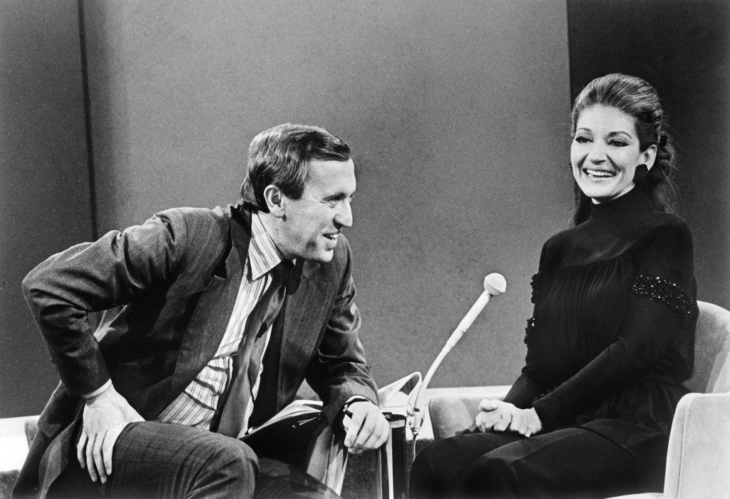 David Frost interviewing Maria Callas. Courtesy Sony Pictures.