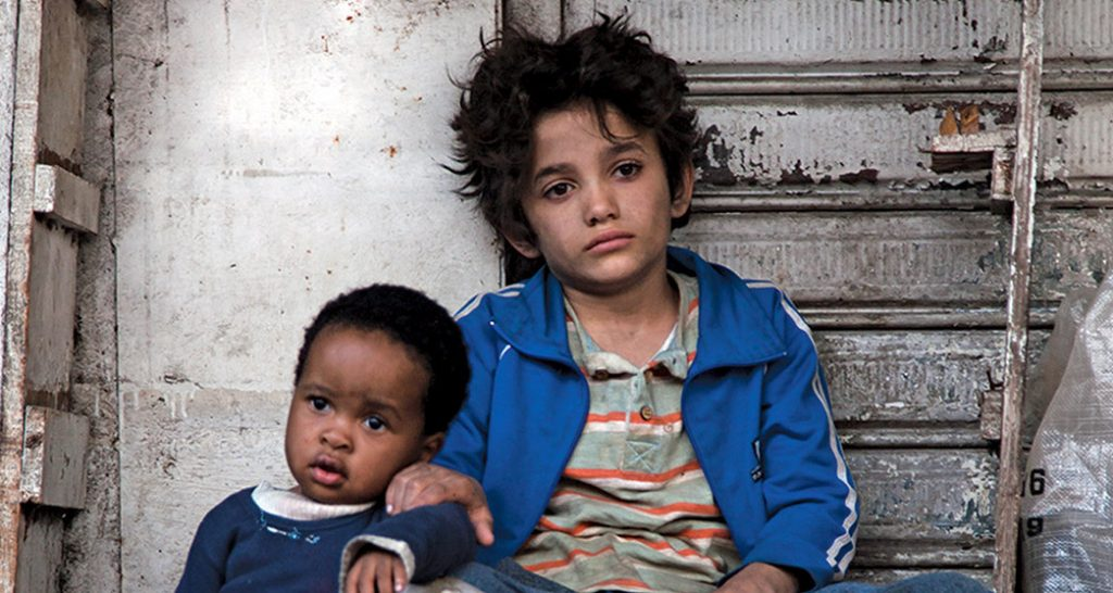 L-r: Boluwatife Treasure Bankole and Zain Al Rafeea in 'Capernaum.' Courtesy Sony Pictures Classics.
