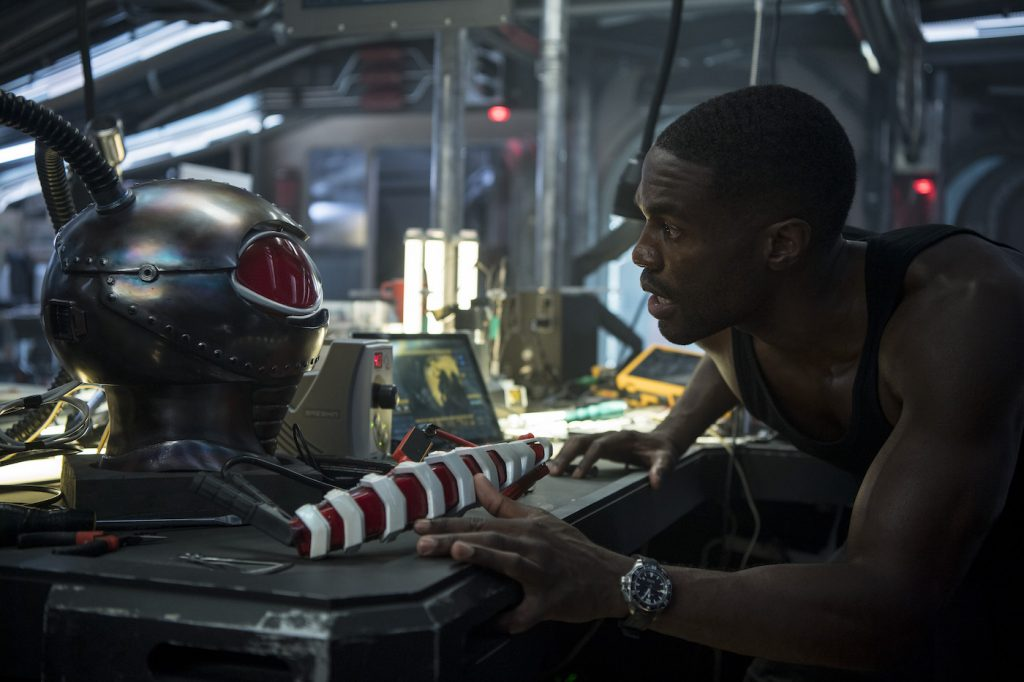 "Caption: YAHYA ABDUL-MATEEN II as Black Manta in Warner Bros. Pictures' action adventure ""AQUAMAN,"" a Warner Bros. Pictures release."