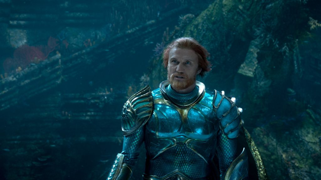"Caption: DOLPH LUNDGREN as King Nereus in Warner Bros. Pictures' action adventure ""AQUAMAN,"" a Warner Bros. Pictures release."