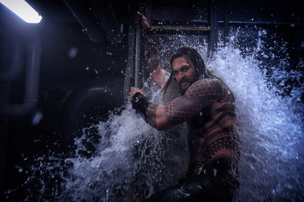 "Caption: JASON MOMOA as Aquaman in Warner Bros. Pictures' action adventure ""AQUAMAN,"" a Warner Bros. Pictures release."