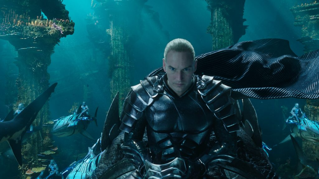 "Caption: PATRICK WILSON as King Orm in Warner Bros. Pictures' action adventure ""AQUAMAN,"" a Warner Bros. Pictures release."