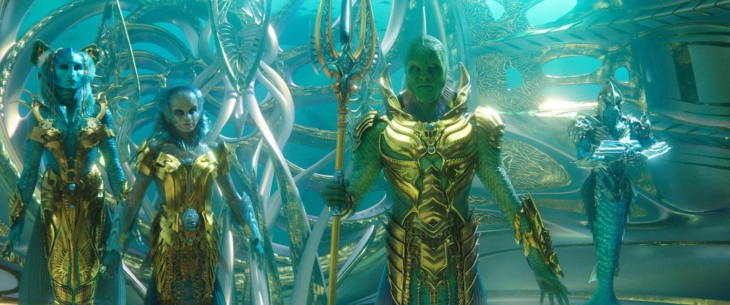 "Caption: The throne room of the Fisherman Kingdom from Warner Bros. Pictures' action adventure ""AQUAMAN,"" a Warner Bros. Pictures release."