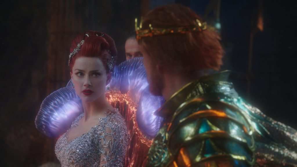 "Caption: (L-r) AMBER HEARD as Mera and DOLPH LUNDGREN as King Nereus in Warner Bros. Pictures' action adventure ""AQUAMAN,"" a Warner Bros. Pictures release."