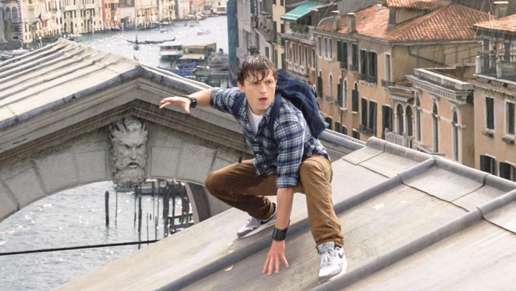 Tom Holland is Peter Parker, in Columbia Pictures' SPIDER-MAN:™ FAR FROM HOME. Courtesy of Sony Pictures