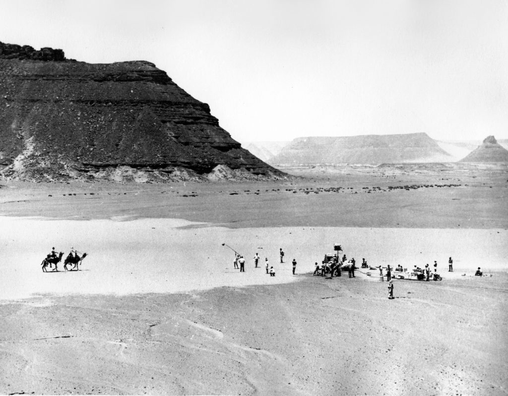 On the set of 'Lawrence of Arabia.' Courtesy ASC/Sony Pictures