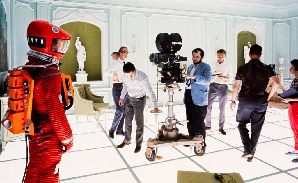 On the set of '2001: A Space Odyssey.' Courtesy ASC/MGM.