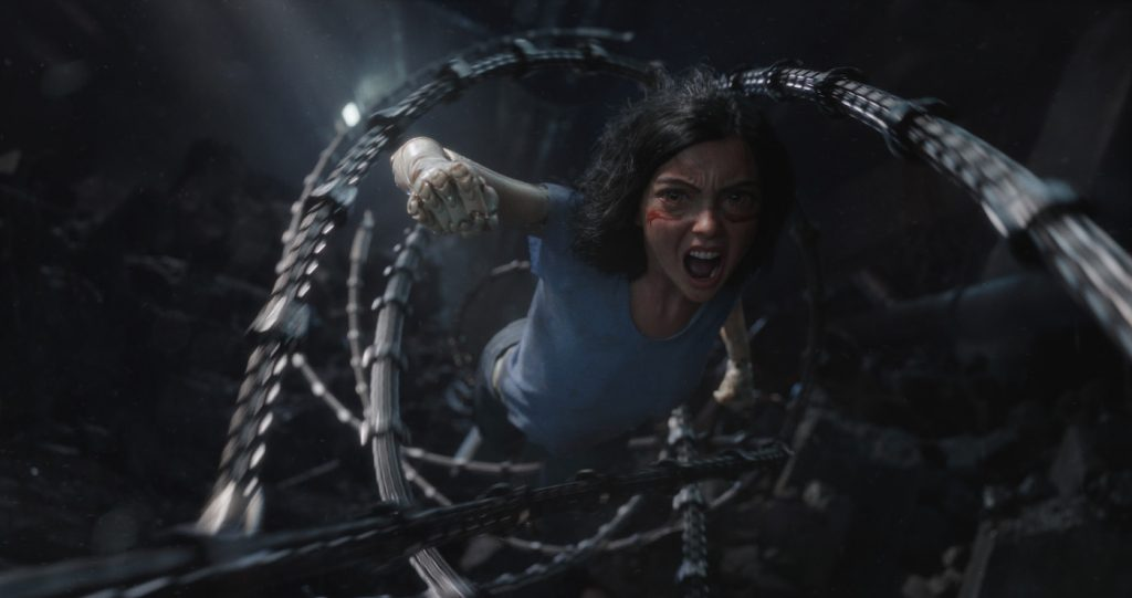 Rosa Salazar (as Alita) in Twentieth Century Fox's ALITA: BATTLE ANGEL. Courtesy Twentieth Century Fo