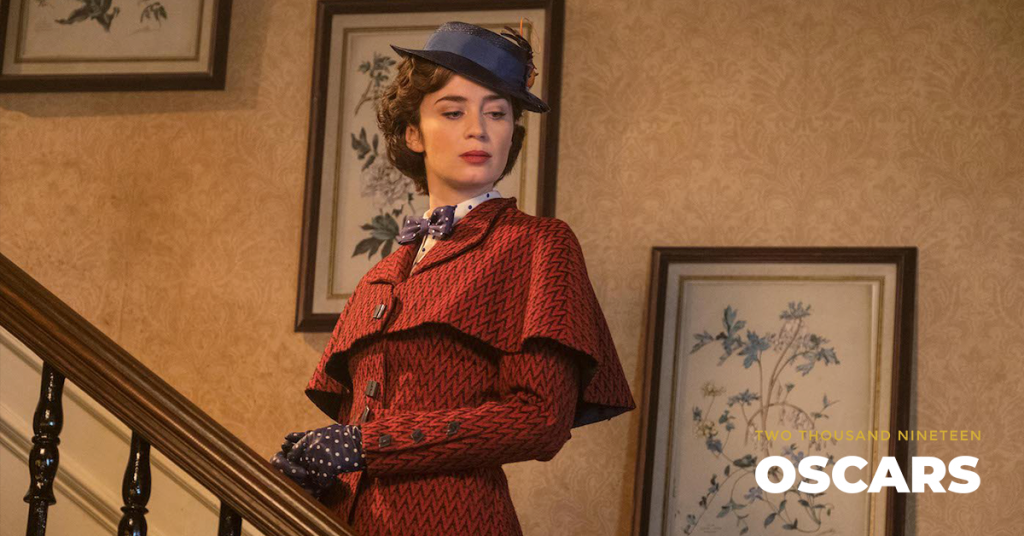 Emily Blunt is Mary Poppins in Disney's MARY POPPINS RETURNS,  a sequel to the 1964 film MARY POPPINS, which takes audiences on an all-new adventure with the practically perfect nanny and the Banks family. Courtesy Walt Disney Studios