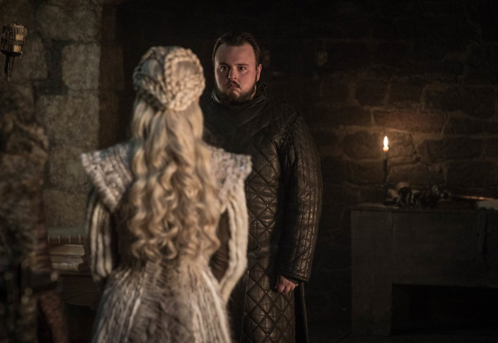 Season 8, episode 1 (debut 4/14/19): Emilia Clarke, John Bradley. photo: Helen Sloan/HBO