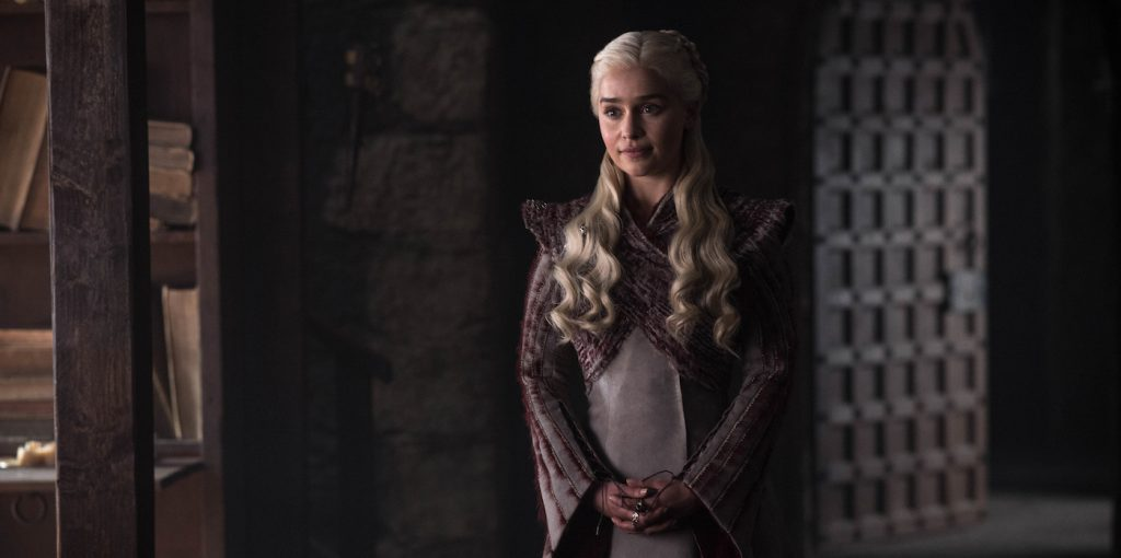 Season 8, episode 2 (debut 4/21/19): Emilia Clarke. photo: Helen Sloan/HBO